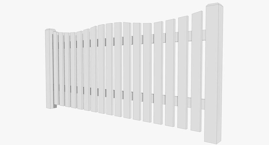 Drewniany płot royalty-free 3d model - Preview no. 6