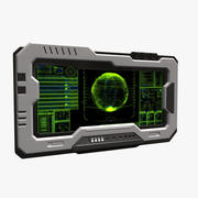 Monitor Sci-Fi_02 3d model