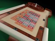 Roulette Table 3d model
