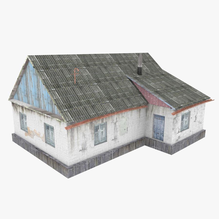 3Dロシアの家3低ポリ3D royalty-free 3d model - Preview no. 1