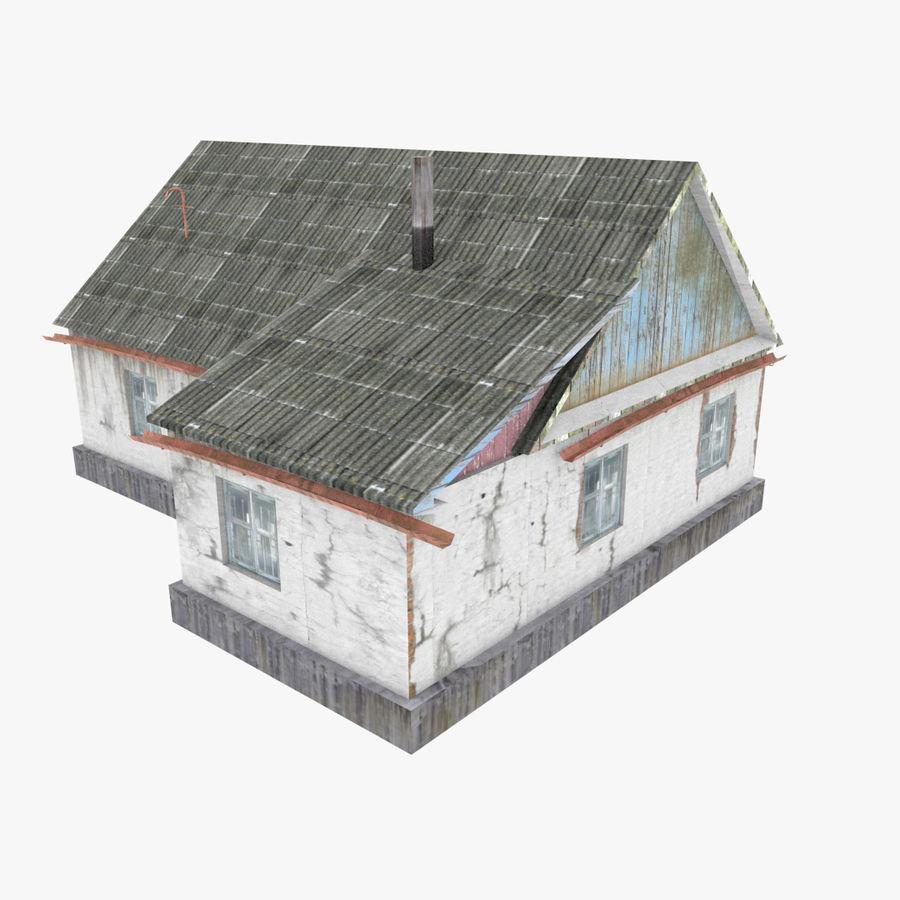 3Dロシアの家3低ポリ3D royalty-free 3d model - Preview no. 2