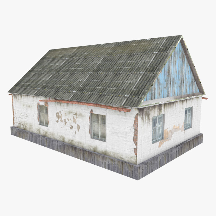 3Dロシアの家3低ポリ3D royalty-free 3d model - Preview no. 5