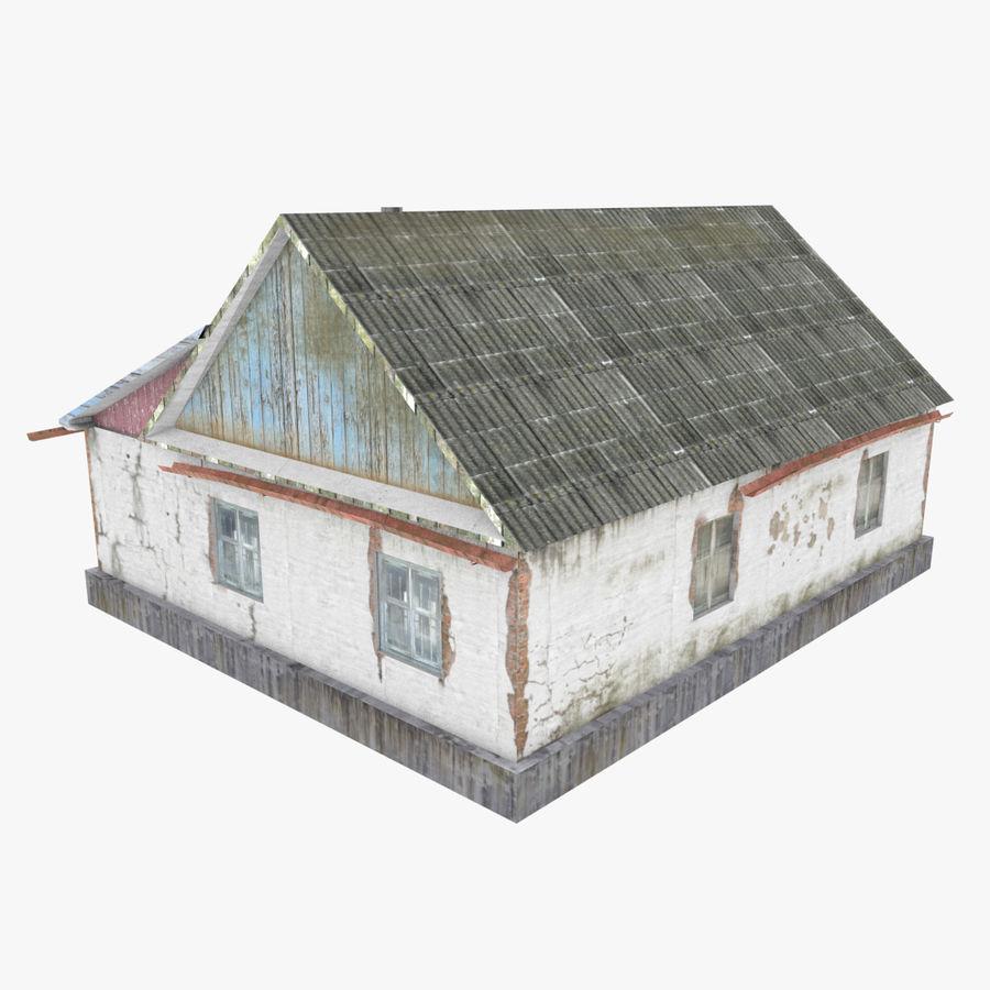 3Dロシアの家3低ポリ3D royalty-free 3d model - Preview no. 3