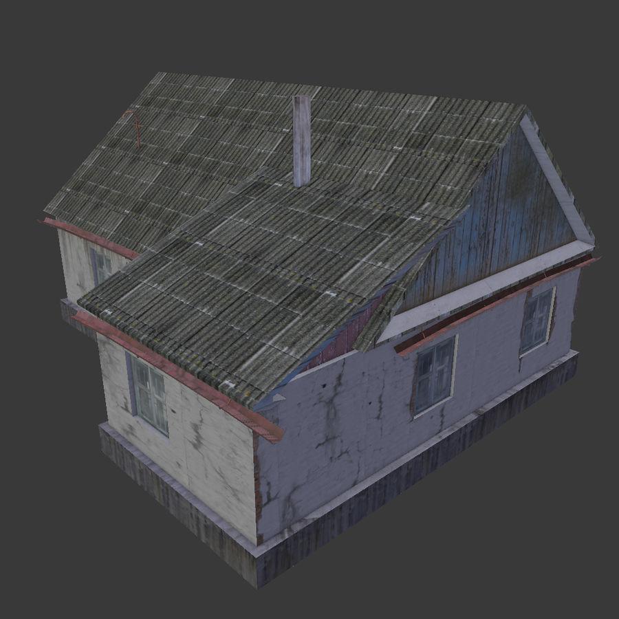 3Dロシアの家3低ポリ3D royalty-free 3d model - Preview no. 8