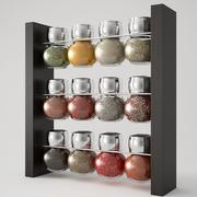 12 Piece Spice Rack 3d model