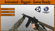 Анимированная игра FPS Arms Low Low 3d model