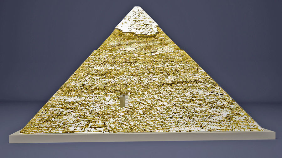 The Egyptian Pyramid of Khafre royalty-free 3d model - Preview no. 7