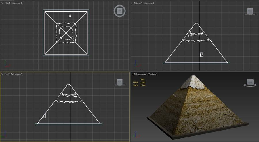 The Egyptian Pyramid of Khafre royalty-free 3d model - Preview no. 6