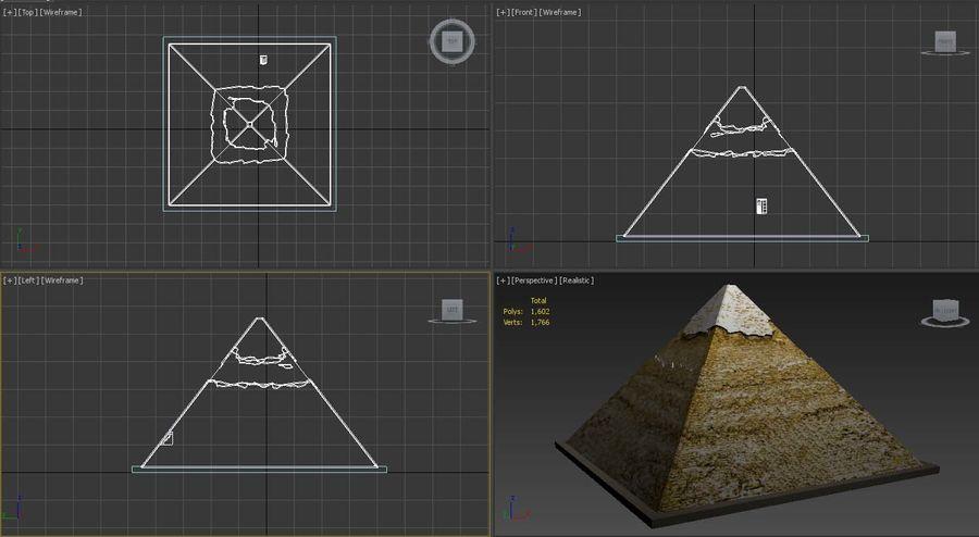 카 프레의 이집트 피라미드 royalty-free 3d model - Preview no. 6