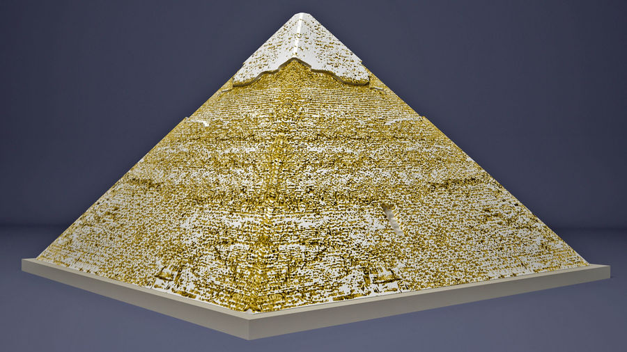 The Egyptian Pyramid of Khafre royalty-free 3d model - Preview no. 4