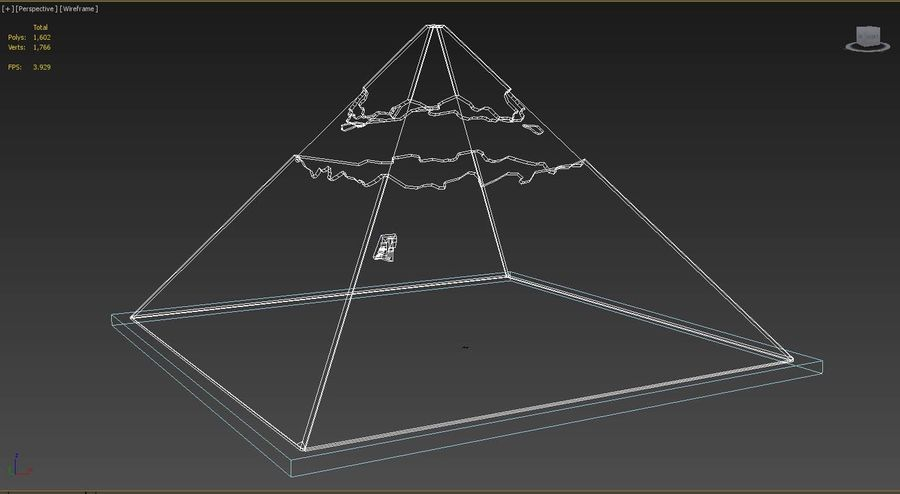 The Egyptian Pyramid of Khafre royalty-free 3d model - Preview no. 5