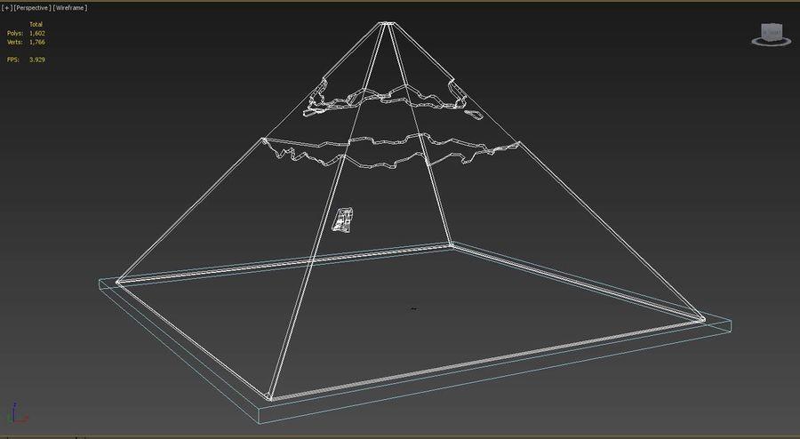 카 프레의 이집트 피라미드 royalty-free 3d model - Preview no. 5