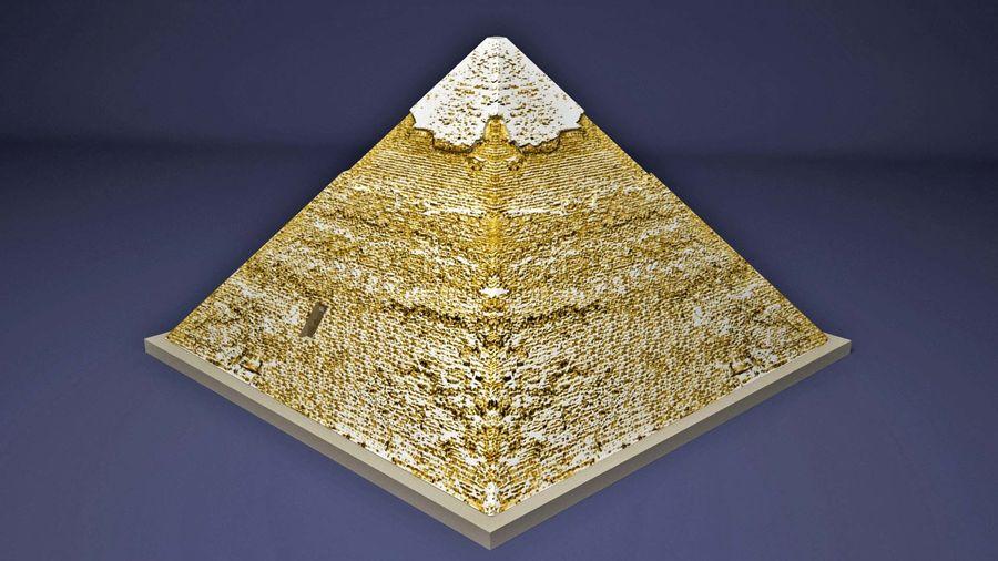 카 프레의 이집트 피라미드 royalty-free 3d model - Preview no. 2