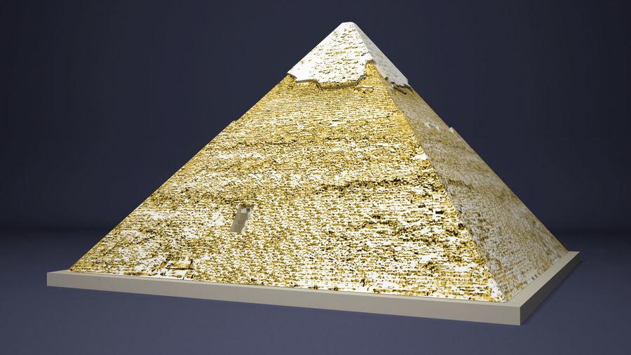 카 프레의 이집트 피라미드 royalty-free 3d model - Preview no. 3