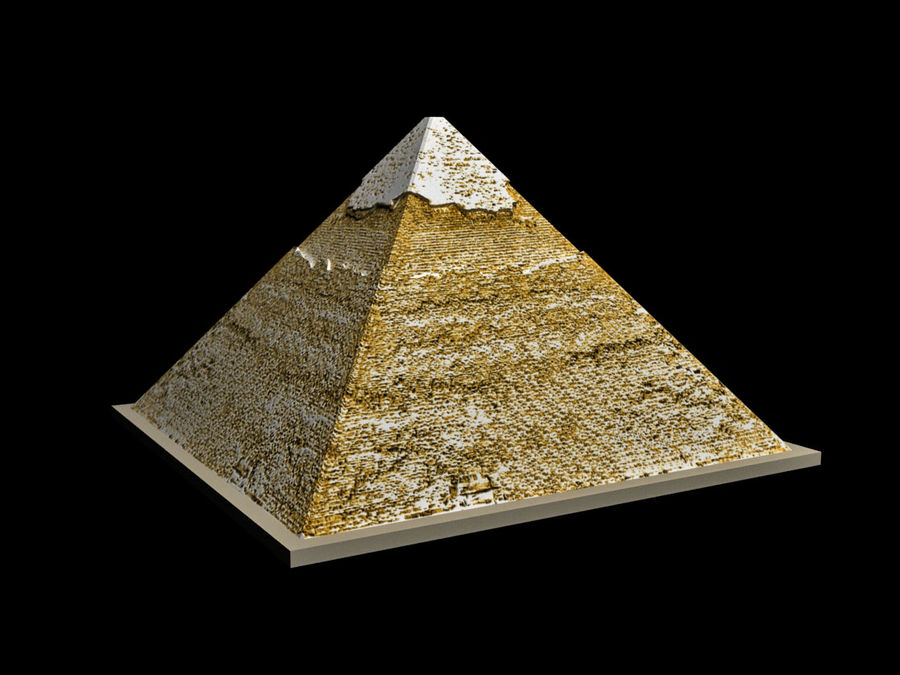 The Egyptian Pyramid of Khafre royalty-free 3d model - Preview no. 1