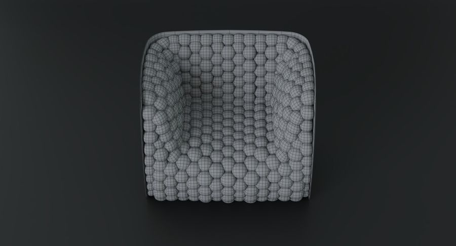 Armchair soft cubes modern royalty-free 3d model - Preview no. 21