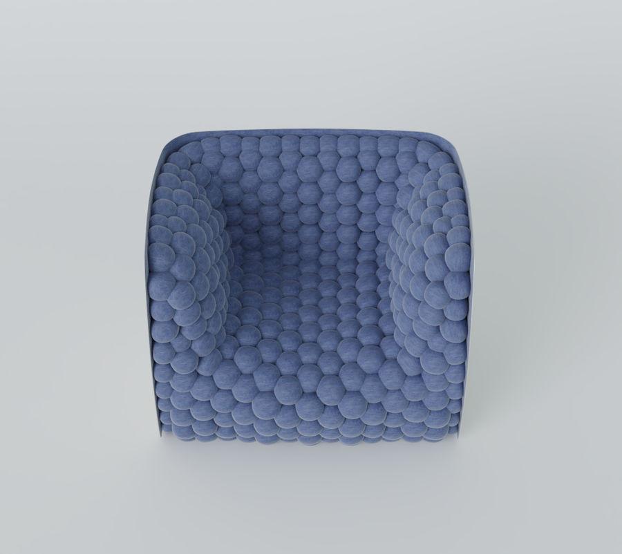 Fåtölj mjuka kuber modern royalty-free 3d model - Preview no. 10