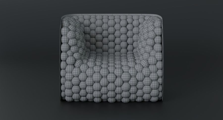 Armchair soft cubes modern royalty-free 3d model - Preview no. 22