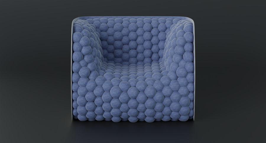 扶手椅软立方体现代 royalty-free 3d model - Preview no. 6