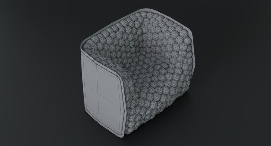 Fåtölj mjuka kuber modern royalty-free 3d model - Preview no. 26