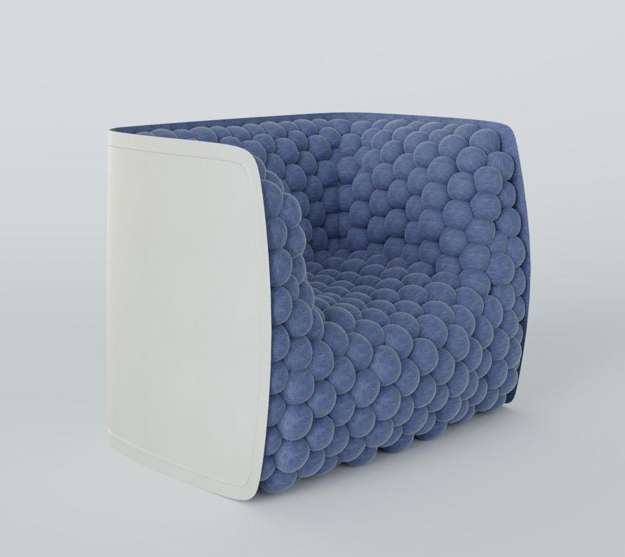 扶手椅软立方体现代 royalty-free 3d model - Preview no. 11