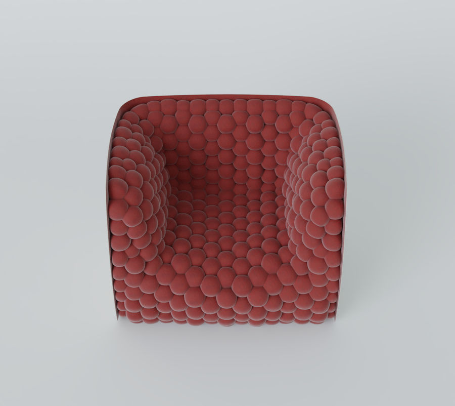 Armchair soft cubes modern royalty-free 3d model - Preview no. 17