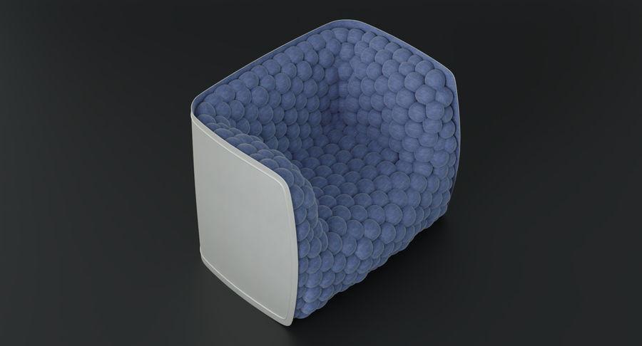 扶手椅软立方体现代 royalty-free 3d model - Preview no. 7