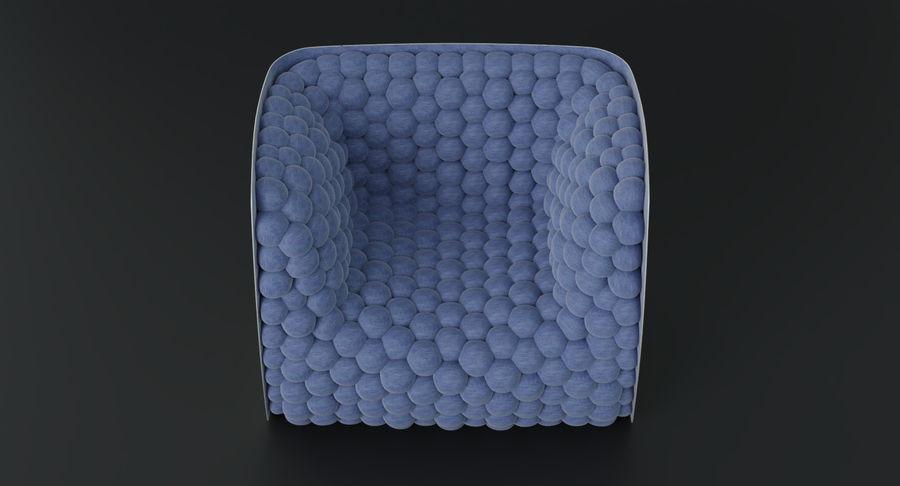 扶手椅软立方体现代 royalty-free 3d model - Preview no. 8