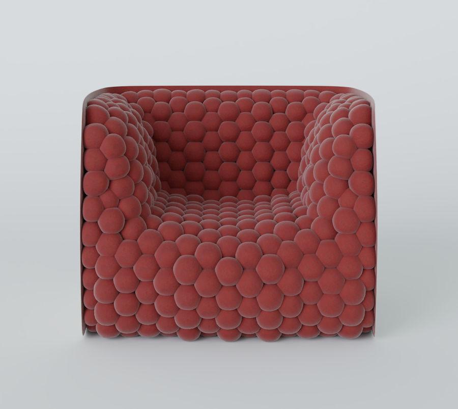 扶手椅软立方体现代 royalty-free 3d model - Preview no. 15