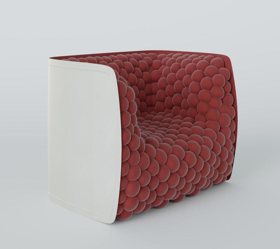 扶手椅软立方体现代 royalty-free 3d model - Preview no. 16