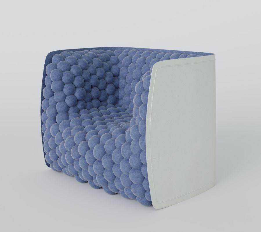 扶手椅软立方体现代 royalty-free 3d model - Preview no. 13