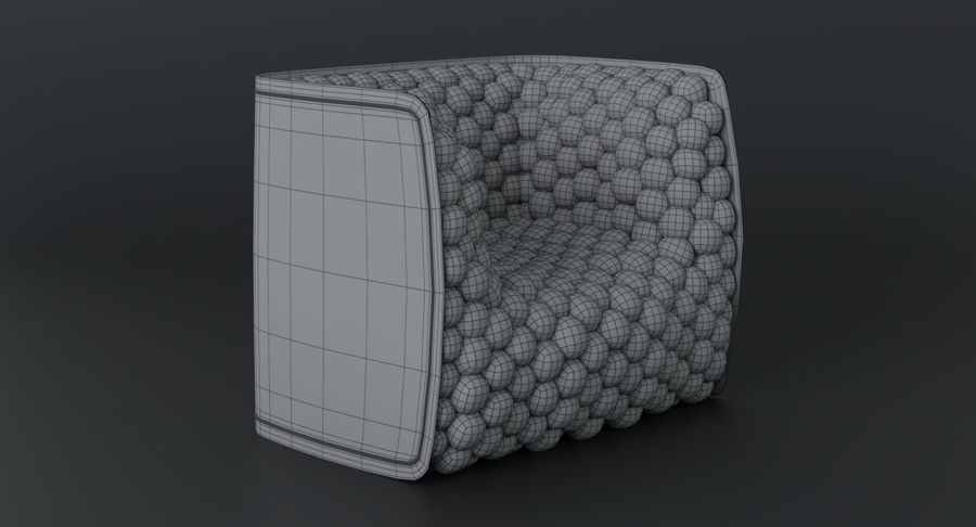 Fåtölj mjuka kuber modern royalty-free 3d model - Preview no. 23
