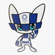 Tokyo 2020 Games Flat Mascot 3d model