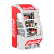 Холодильник с открытым холодильником 3d model