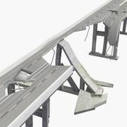 Low poly Damaged Bridge 3d model