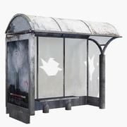 Ruin Bus Stop 3d model