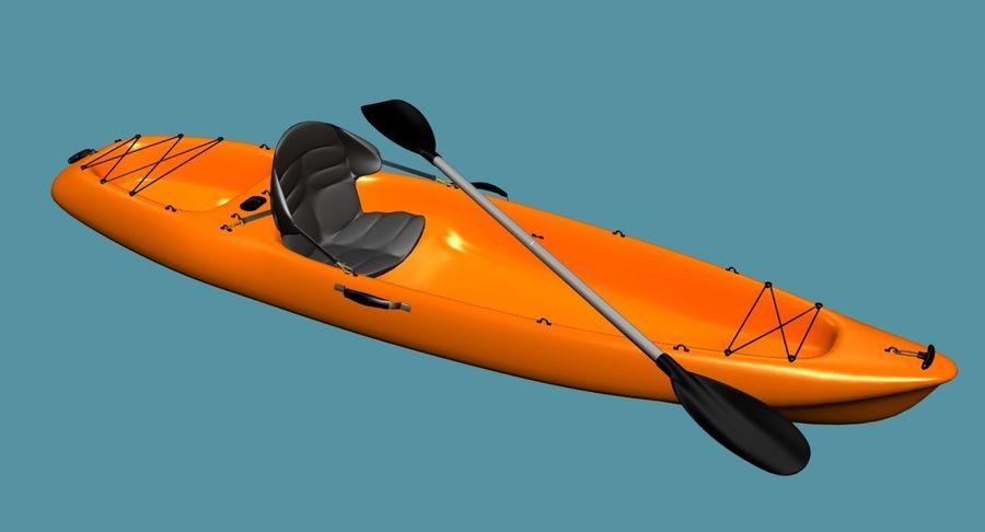 Caiaque royalty-free 3d model - Preview no. 2