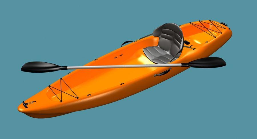 Caiaque royalty-free 3d model - Preview no. 4