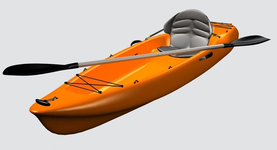 Caiaque royalty-free 3d model - Preview no. 7
