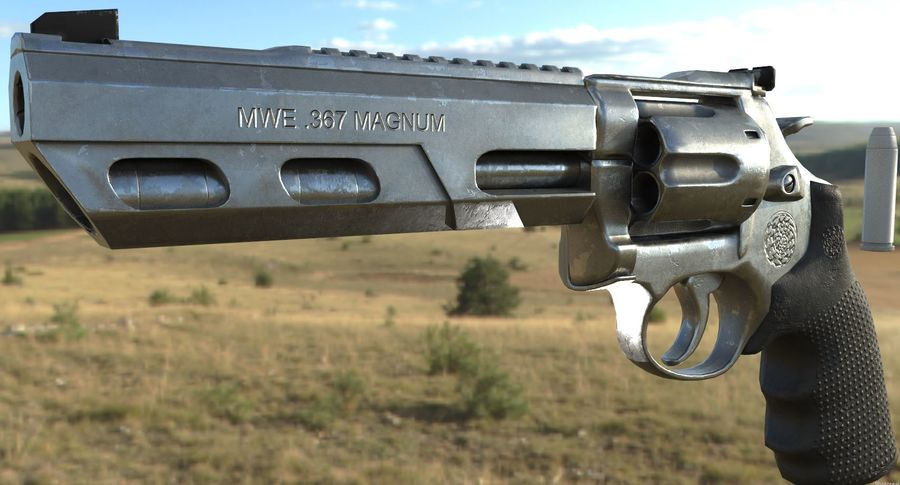 357 Magnum royalty-free 3d model - Preview no. 1