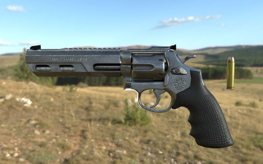 357 Magnum royalty-free 3d model - Preview no. 4