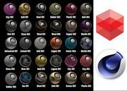 Redshift Shader到Cinema 4D 1 3d model