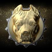 pitbull pendant 3d model