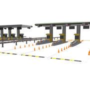 Toll Gate 3d model