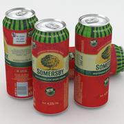 Lata De Cerveza Somersby Cerveza Sandía Bebida 500ml modelo 3d