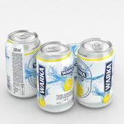 Beer Can Warka Radler Non Alcoholic Lemon 330ml 3d model