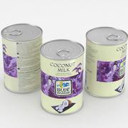 Food Can Blue Dragon Кокосовое молоко 400мл 3d model