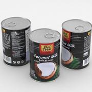 Food Can Real Thai Coconut Milk 400ml 3d model