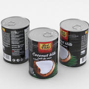 Food Can Real Thai Coconut Milk 400ml 3d model