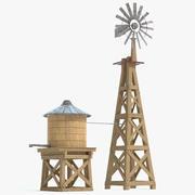Farm Windmill and Water Tank 3d model